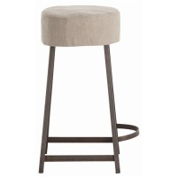 Arteriors DR6009 Rochefort 24 inch Natural Iron and Natural Linen Counter Stool