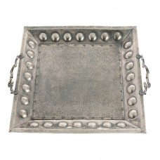 Arteriors DS2020 Antony Antique Silver Tray, Square