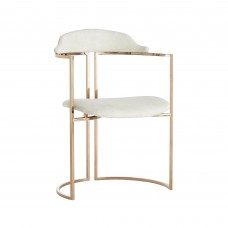 Arteriors DS2021 Zephyr 32 Inch Rose Gold Accent Chair