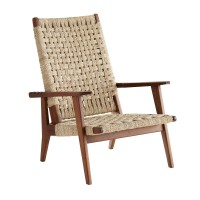 Arteriors 4409 Jericho Walnut Finish Teak Wood Reclining Chair