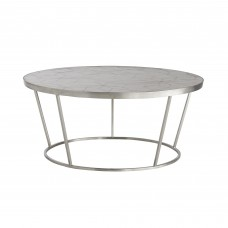Arteriors 5540 Rainey 36 Inch Brushed Nickel Cocktail Table