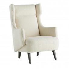 Arteriors 8090 Budelli 41 Inch Wing Snow Boucle Grey Ash Upholstered Chair