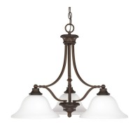 Capital Lighting 3413BB-237 Belmont 3 Light 26 inch Burnished Bronze Chandelier Ceiling Light in Soft White Glass
