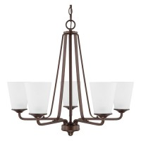 Capital Lighting 414151BZ-331 HomePlace 5 Light 26 inch Bronze Chandelier Ceiling Light