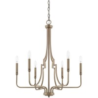 Capital Lighting 419361AD Dawson 6 Light 25 inch Aged Brass Chandelier Ceiling Light