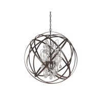Capital Lighting 4236RS-CR Axis 6 Light 30 inch Russet Pendant Ceiling Light