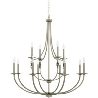 Capital Lighting 427901AN Wallace 12 Light 41 inch Antique Nickel Chandelier Ceiling Light