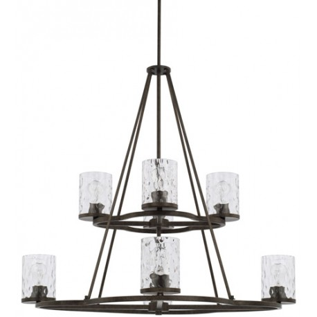 Capital Lighting 428981UB-452 Collier 8 Light 38 inch Urban Brown Chandelier Ceiling Light, HomePlace