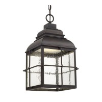 Capital Lighting 917832OB-LD Lanier LED 11 inch Old Bronze Outdoor Hanging Lantern in Seeded