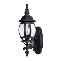 Capital Lighting 9867BK French Country 1 Light Black Outdoor Wall Lantern