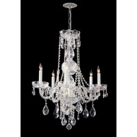 Crystorama 1115-CH-CL-S Traditional Crystal 5 Light 22 inch Polished Chrome Chandelier Ceiling Light in Polished Chrome (CH), Clear Swarovski Strass