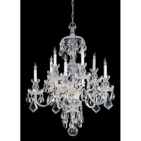 Crystorama 1140-PB-CL-SAQ Traditional Crystal 10 Light 28 inch Polished Brass Chandelier Ceiling Light in Swarovski Spectra (SAQ), Polished Brass (PB)