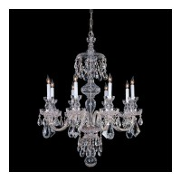 Crystorama 1148-CH-CL-SAQ Traditional Crystal 8 Light 28 inch Polished Chrome Chandelier Ceiling Light in Swarovski Spectra (SAQ)