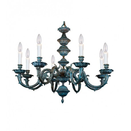 Crystorama 2408-BP Signature 8 Light 30 inch Bronze Patina Chandelier Ceiling Light