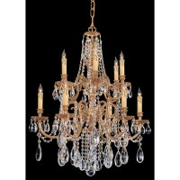 Crystorama 2712-OB-CL-MWP Novella 12 Light 26 inch Olde Brass Chandelier Ceiling Light in Clear Hand Cut