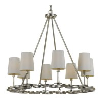 Crystorama 288-SA Graham 8 Light 30 inch Antique Silver Chandelier Ceiling Light