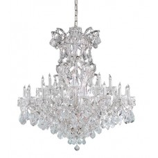 Crystorama 4424-CH-CL-S Maria Theresa 25 Light 46 inch Polished Chrome Chandelier Ceiling Light in Polished Chrome (CH), Clear Swarovski Strass