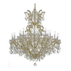 Crystorama 4424-GD-CL-S Maria Theresa 25 Light 46 inch Gold Chandelier Ceiling Light in Swarovski Elements (S), Gold (GD)
