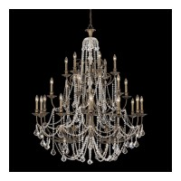 Crystorama 5120-EB-CL-MWP Regis 24 Light 48 inch English Bronze Chandelier Ceiling Light in Clear Hand Cut