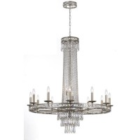 Crystorama 5269-OS-CL-MWP Mercer 16 Light 43 inch Olde Silver Chandelier Ceiling Light in Olde Silver (OS)