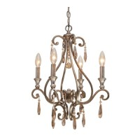Crystorama 7524-DT Shelby 4 Light 17 inch Distressed Twilight Mini Chandelier Ceiling Light