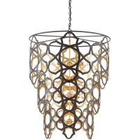 Currey & Company 9000-0381 Mauresque 9 Light 37 inch Bronze Gold and Gold Leaf Chandelier