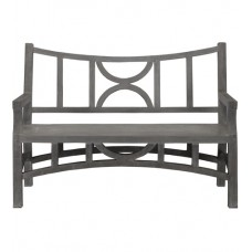 Currey & Company 2000-0011 Colesden Dark Gray Bench