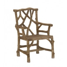 Currey & Company 2706 Woodland Faux Bois Arm Chair