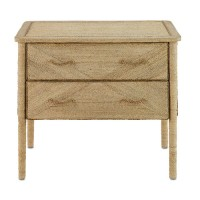 Currey & Company 3000-0011 Kaipo Natural Drawer Chest, 2-Drawer