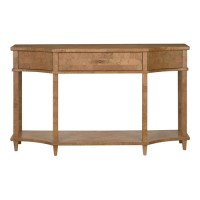 Currey & Company 3000-0066 Renee 60 inch Natural Cork and Gold and Polished Brass Console Table