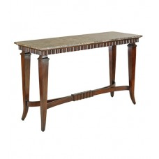 Currey & Company 3239 Middlebrook 56 inch Satin Walnut and Dark Emperador Marble Console Table