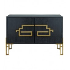 Currey & Company 3259 Zhin II 49 inch Caviar Black and Lapis Blue Sideboard