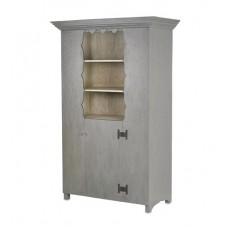 Currey & Company 3992 Albany Cloudy Sky and Oyster Cabinet