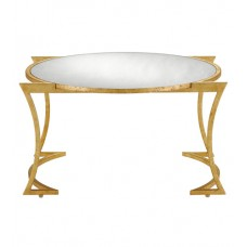 Currey & Company 4000-0017 Lenox 31 inch Grecian Gold Leaf/Antique Mirror Cocktail Table