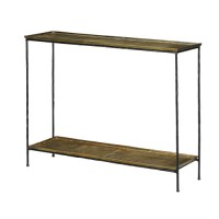 Currey & Company 4000-0023 Boyles 42 inch Black Iron and Antique Brass Console Table