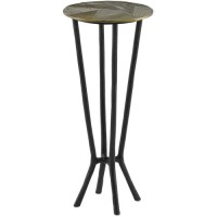 Currey & Company 4000-0034 Thatcher 11 inch Black and Antique Gold Drink Table