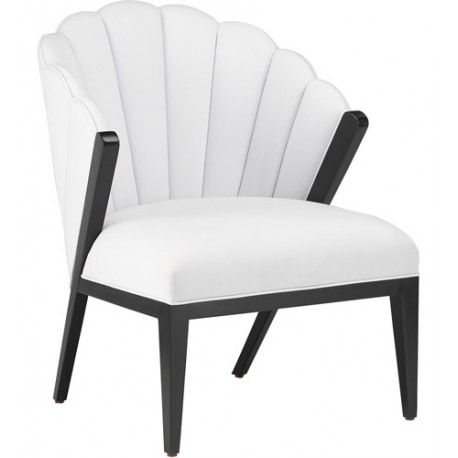 Currey & Company 7000-0141 Janelle Caviar Black Accent Chair