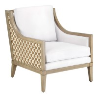 Currey & Company 7000-0191 Bramford Light Wheat/Ivory/Tan Accent Chair