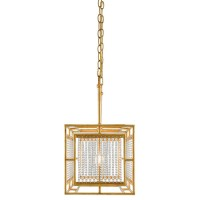 Currey & Company 9000-0001 Adelle 5 Light 49 inch Chinois Gold Leaf Chandelier Ceiling Light