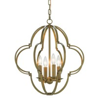 Currey & Company 9000-0173 Sojourn 4 Light 20 inch Antique Brass Chandelier Ceiling Light