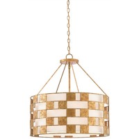 Currey & Company 9000-0330 Brownsea 3 Light 25 inch Rustic Gold Chandelier Ceiling Light