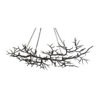 Currey & Company 9007 Rainforest 14 Light 47 inch Rustic Bronze Chandelier Ceiling Light