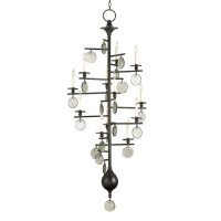 Currey & Company 9125 Sethos 12 Light 28 inch Old Iron/Recycled Glass Chandelier Ceiling Light