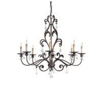 Currey & Company 9380 Pompeii 8 Light 35 inch Cupertino Chandelier Ceiling Light