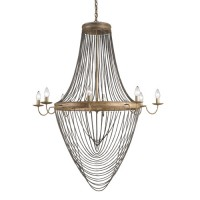 Currey & Company 9412 Lucien 8 Light 46 inch French Gold Leaf/Antique Wash Silver Chandelier Ceiling Light