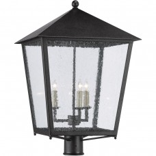 Currey & Company 9600-0006 Bening 3 Light 21 inch Midnight Outdoor Post Light
