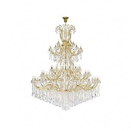 Elegant Lighting 2800G120G/SA Maria Theresa 84 Light 96 inch Gold Chandelier Ceiling Light