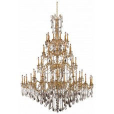 Elegant Lighting 9260G72FG/SS Rosalia 60 Light 72 inch French Gold Foyer Ceiling Light in Swarovski Strass