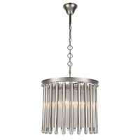 Elegant Lighting 1140D20PN Maxwell 4 Light 20 inch Polished Nickel Chandelier Ceiling Light, Urban Classic