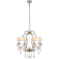 Elegant Lighting 1471D31SL Diana 8 Light 31 inch Vintage Silver Leaf Chandelier Ceiling Light, Urban Classic